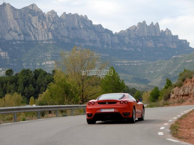 Ferrari on the road adventure