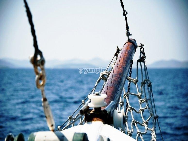 Detalle del velero