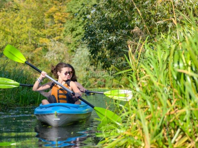 Paseo en kayak por el embalse de la Fuensanta