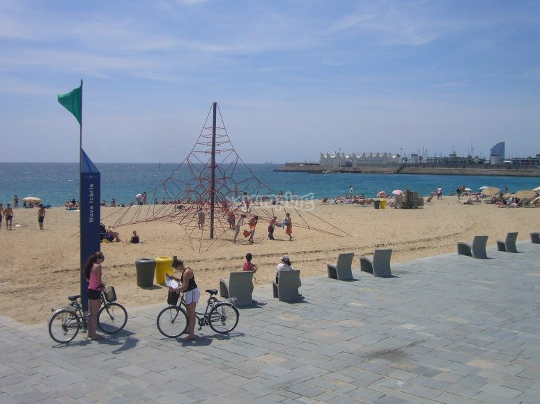 Bicis en la playa