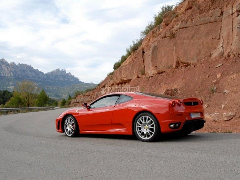 Behind the wheel of the Ferrari F430