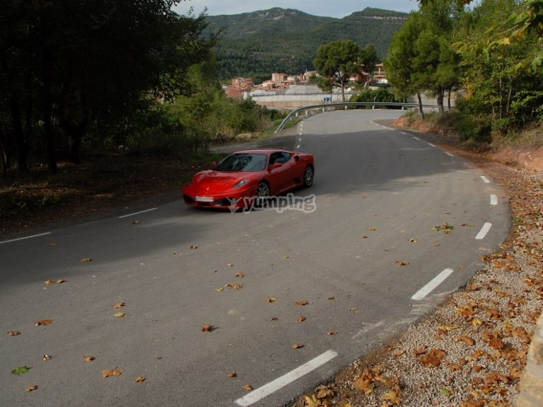 Ferrari F430 on the road