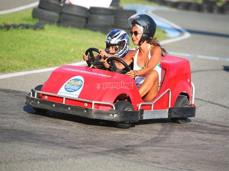 Karting con mama.