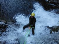 Water-filled rappel