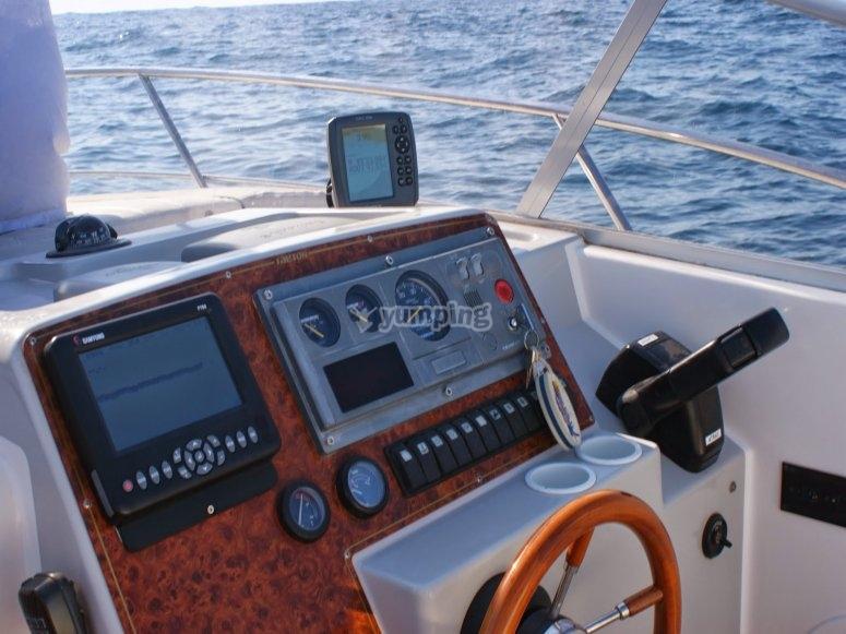 Controles del barco