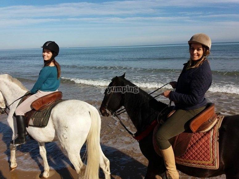By horse in Gandia
