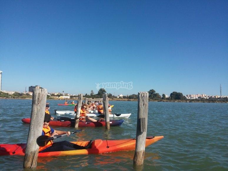 Diversion para todos con los kayaks