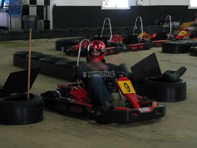 Interior de pista de karts