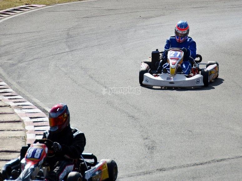 Rodando en el circuito