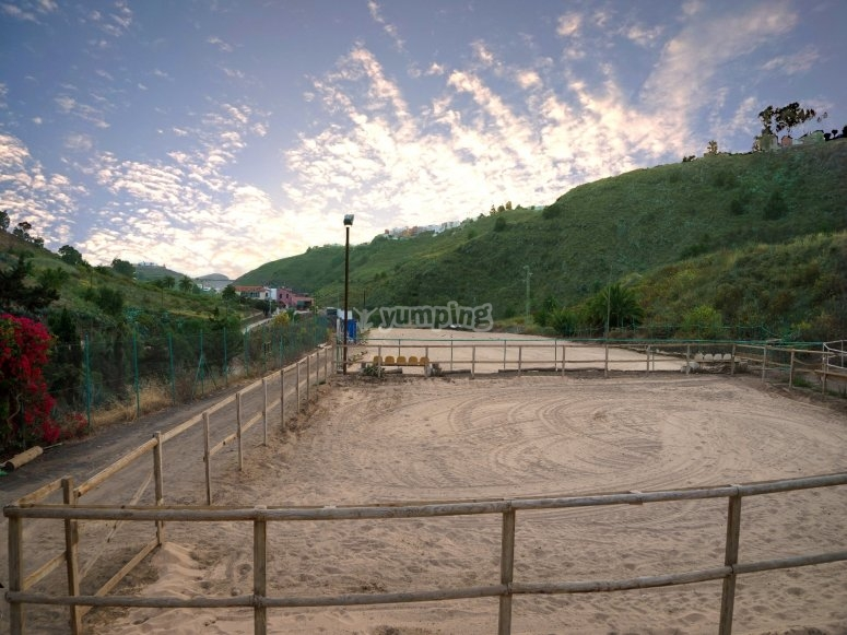 Pista de arena para practicar