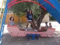 En el barco infantil