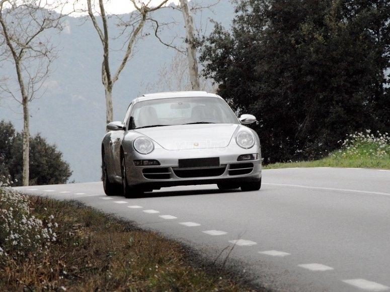 Porsche on road