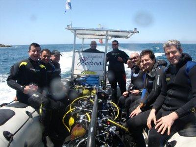 Inmersión de buceo en las Rias Baixas