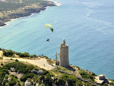 Paragliding baptism in Cádiz