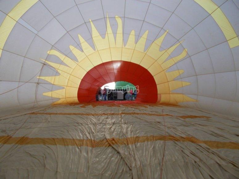 Vista desde adentro del globo