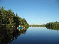 Sailing in canoe