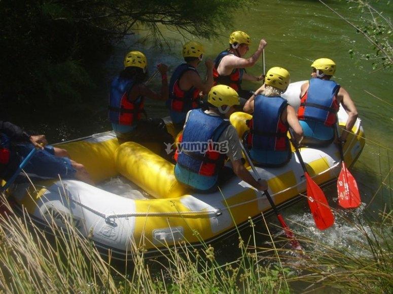 在瓦伦西亚乘坐筏子