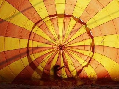 在蒙塞尼的浪漫气球乘驾,与横幅