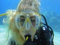 潜水从帕尔马的海滩潜水