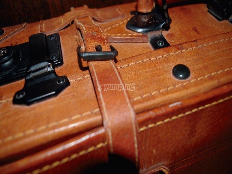 Locked suitcase