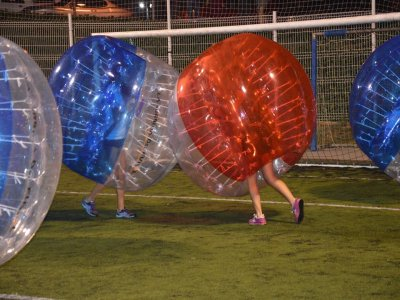 Bubble soccer match in Barcelona, 40 min