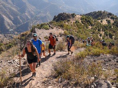 Route through La Gotera Canyon 4h