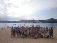 Todos en la playa de San Vicente