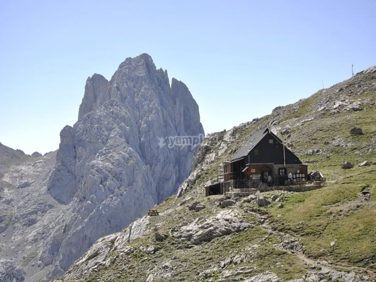 Uno de los refugios de Asturias