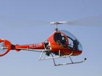 Helicoptero ULM rojo