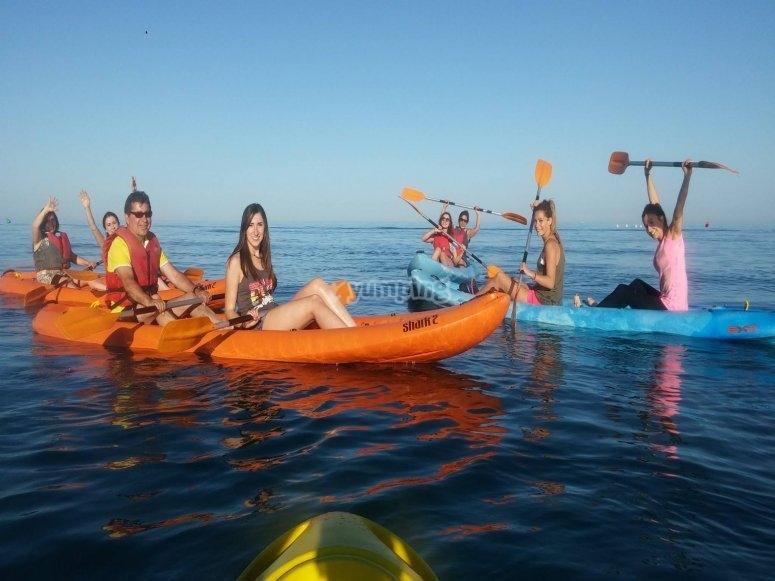 Kayak in family
