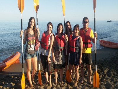 Zip-line and kayak in Fuengirola for 4 people