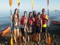 Tirolina y kayak en Fuengirola para 4 personas