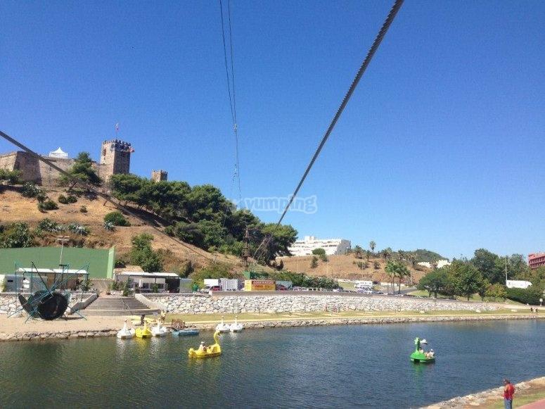 Zip-line around the castle