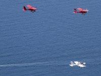 Sports flight over the Murcian coast