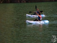 Competitions in canoe.