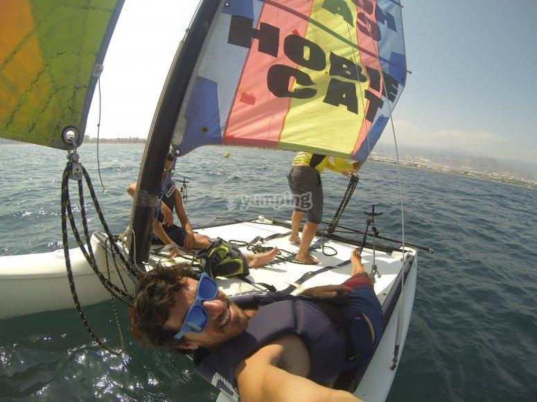 Relax en el catamaran