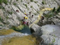 Rappel in the ravine of Lucena del Cid.