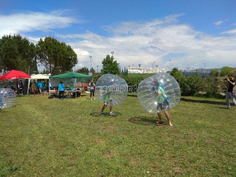 Soccer bubble