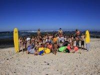 冲浪在El Cotillo的冲浪集团