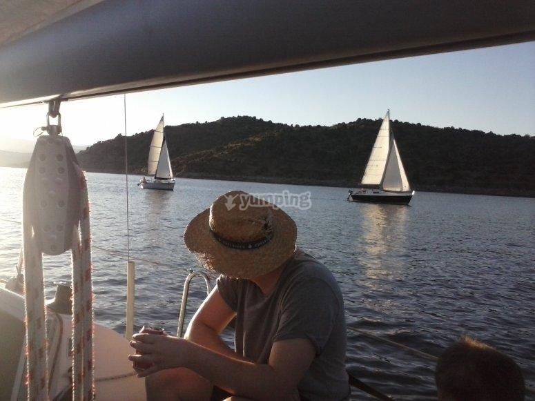 Navegando en velero por Madrid