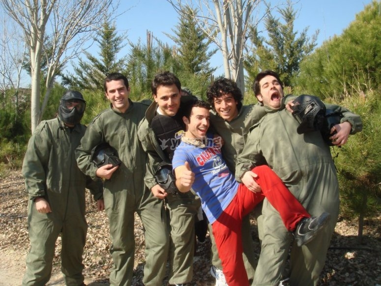 The paintball team