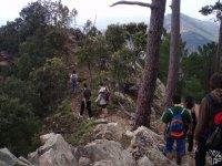 Senderismo en la montaña.