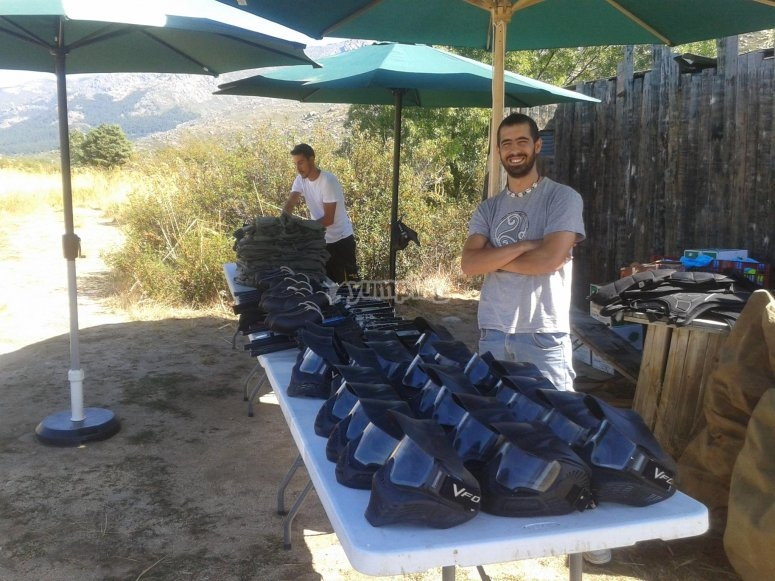 Bringing the equipment