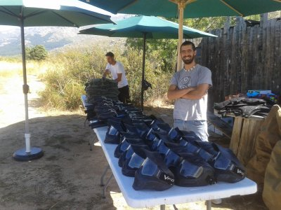Paintball con BBQ y barra libre en El Pardillo
