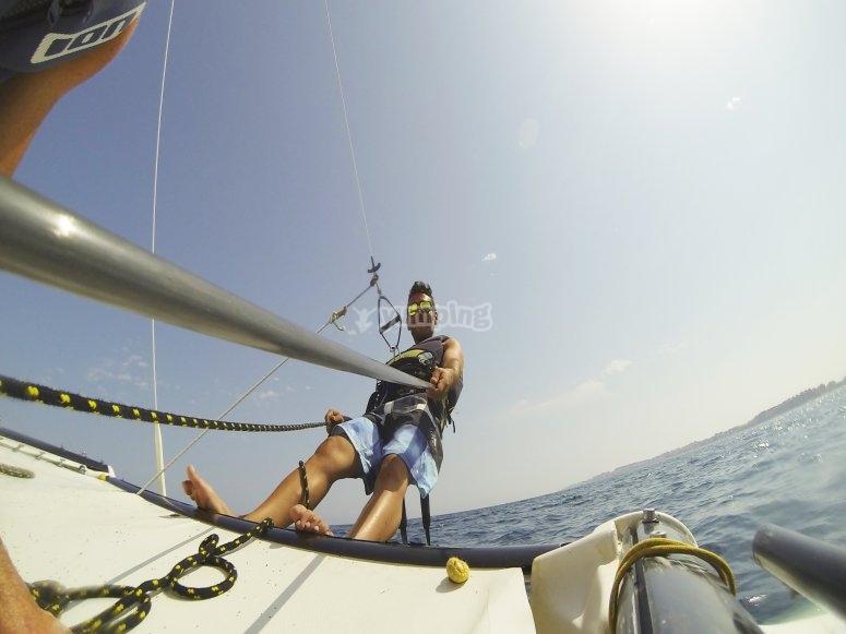 Catamaran y gopro