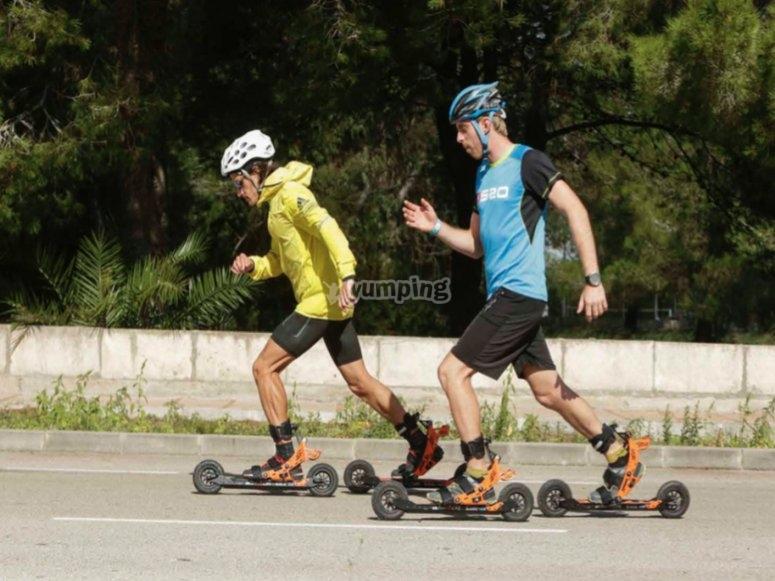 Roller ski te da alas
