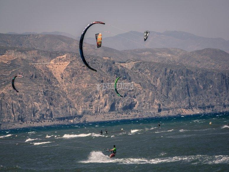 Grupos de kitesurf