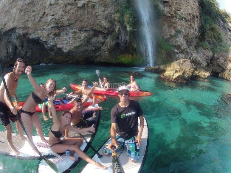 自拍与皮划艇