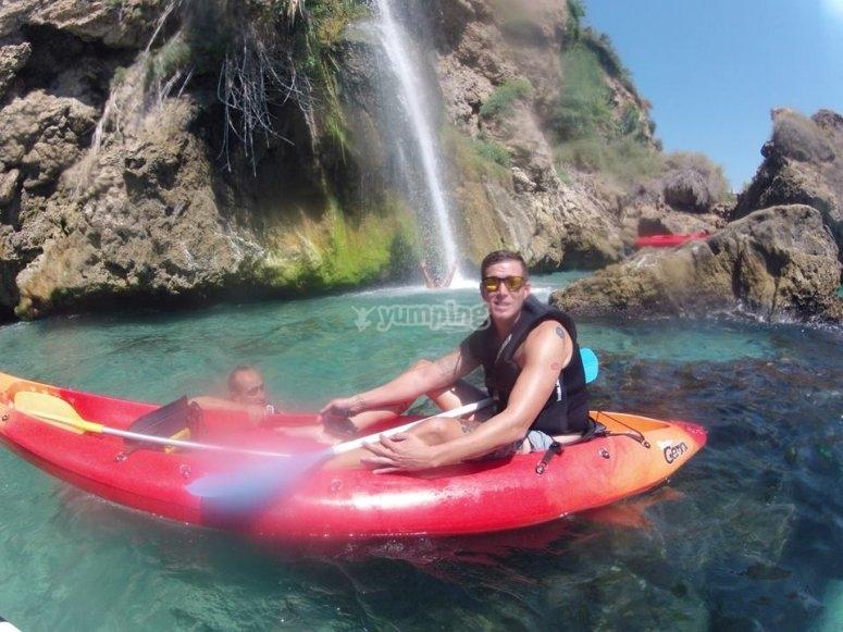 Disfrutando del kayak