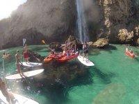 Paseo en kayak y paddle surf